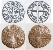 monnaie archevêque embrun Guillaume VI de Mandagot (1295 - 1311) et Humbert 1er (1281 - 1307